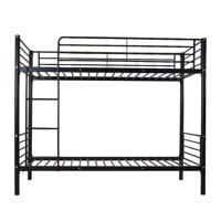 UBesGoo Twin Metal Bunk Beds Twin over Twin Bunk Bed Frame Black