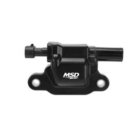 MSD Ignition 82653 Blaster LS Coil; Molded Bracket; Black; Single;
