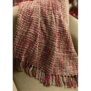 Manual Woodworkers and Weavers AICTPA Candler, Paprika Tapestry Throw Blanket Fashionable Jacquard Woven 50 X 60 in.