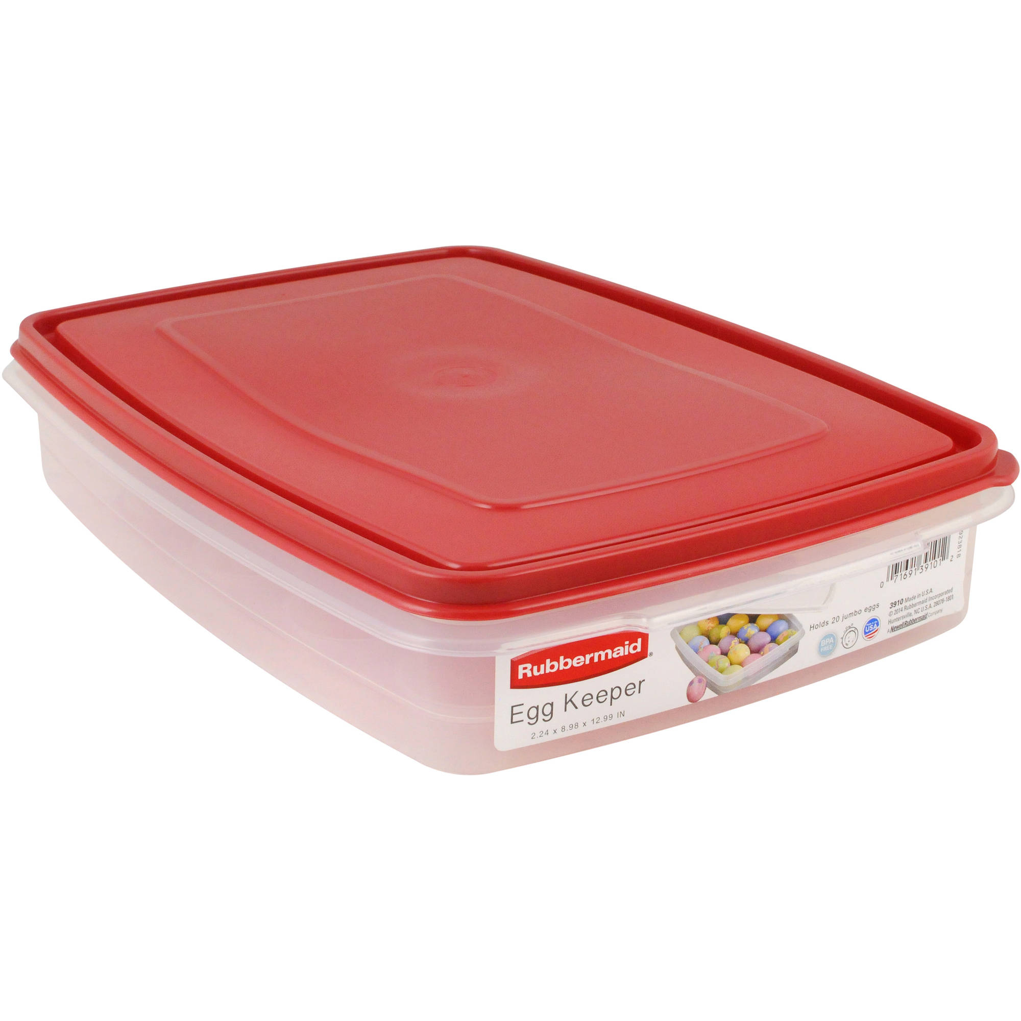 Rubbermaid Egg and Food Storage Container, Red