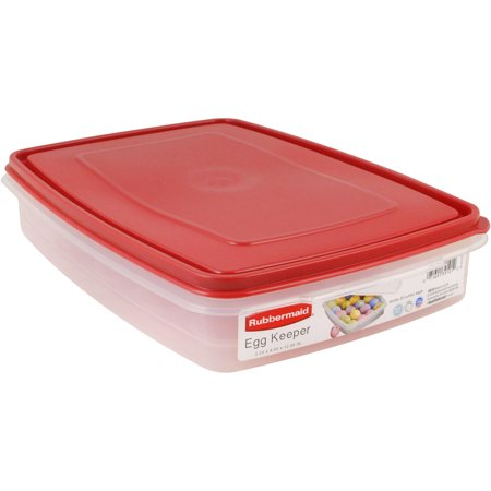 Ultra Camtainer Beverage Carrier - Rubbermaid Egg and Food Storage Container, Red