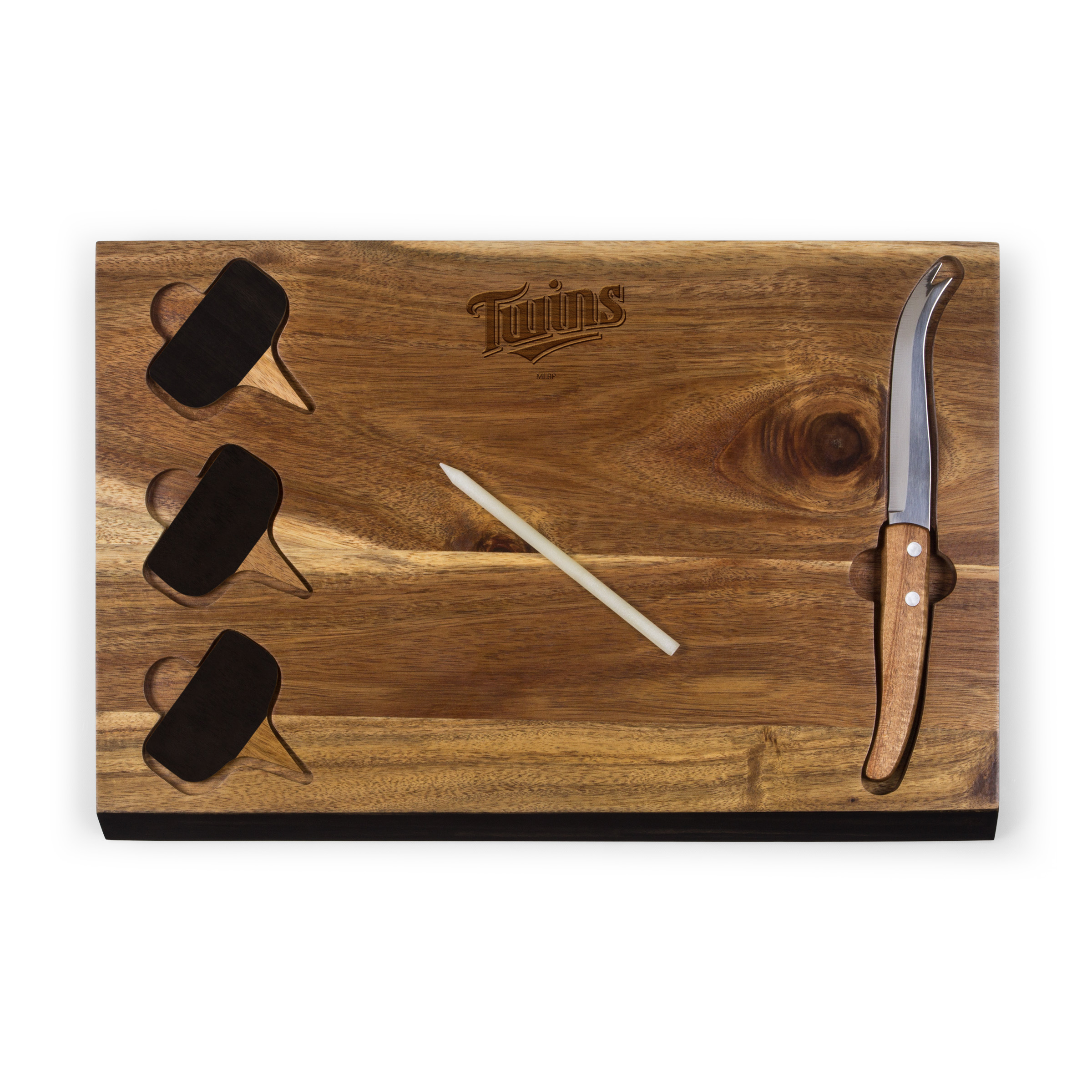 Minnesota Twins Delio Acacia Cheese Board with Acacia Markers - No Size