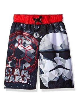 Disney Boys 4-7 Star Wars Swim Trunk (Black 7)