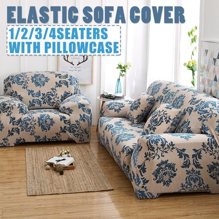 European Stretch Sofa Cover Sofa Cover All-Inclusive Anti-Slip Leather Sofa Towel Full Cover / Pillow Case Fabric Combination Four Seasons Universal Stretch Full Slip