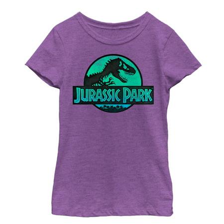 Jurassic Park Girls' Ocean Ripple Logo T-Shirt - Ocean Park Halloween Tickets