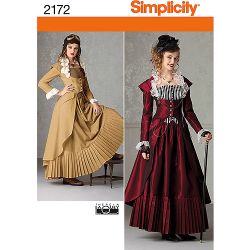 Simplicity Pattern Misses' Victorian Era Steampunk Costumes, (14, 16, 18, 20, 22)