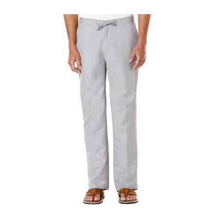 CubAvera Mens Linen-Blend Casual Trousers graydawn Big 1X/30 - Big & Tall - image 1 of 1