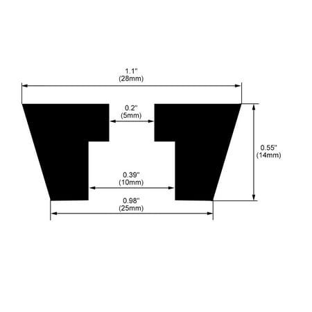 Pieds en caoutchouc pare-chocs coussin D28x25xH14mm Noir 4pcs - image 2 de 5
