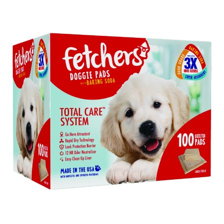 Fetchers Pet Pads, Dog Training Pads, 100 Count, 23 in x 24
