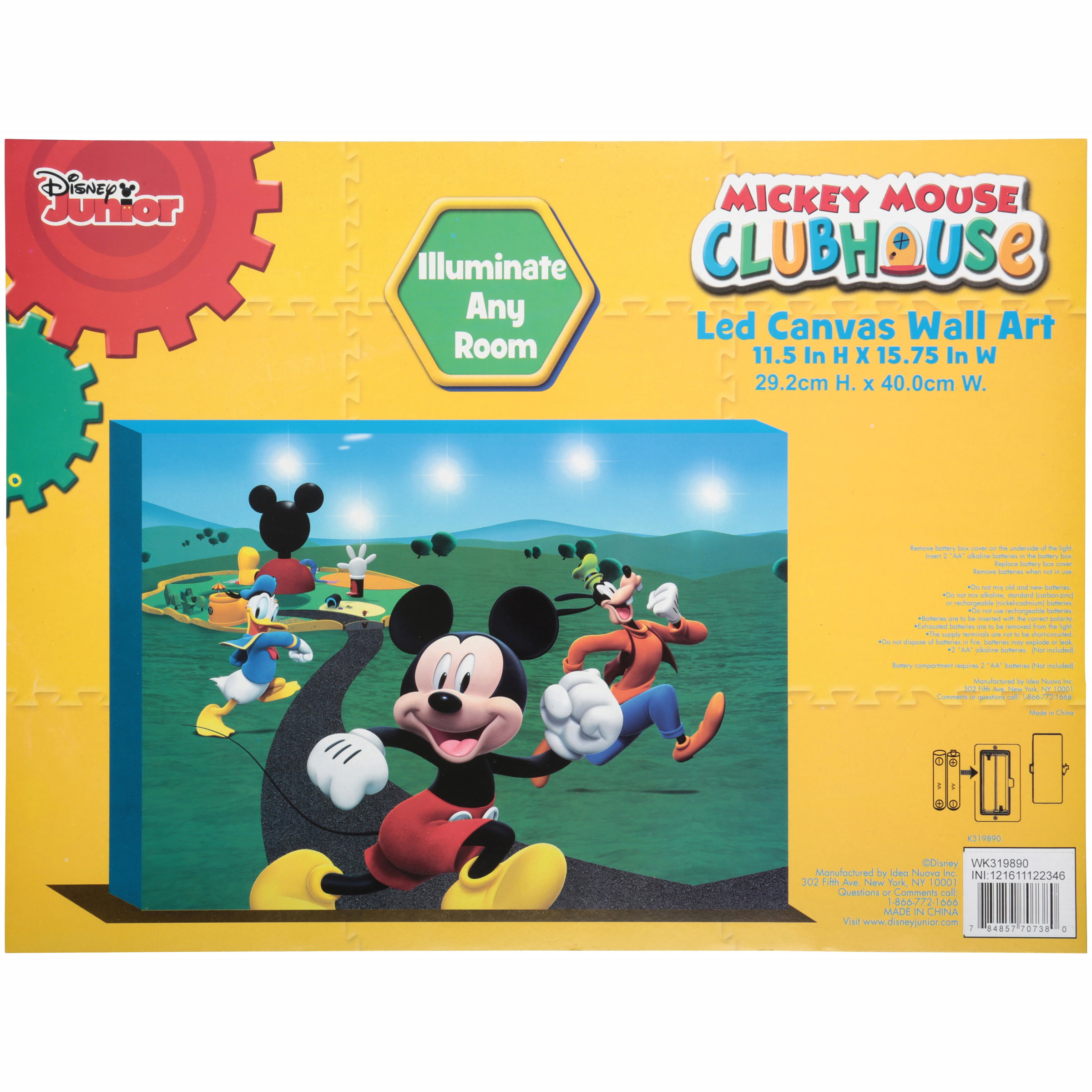 Disney Junior Mickey Mouse Clubhouse LED Canvas Wall Art - Walmart.com