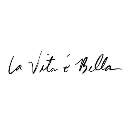 3472911efb5 La Vita e Bella Reflective Letters Decals Car Stickers Full Body Car Head  Styling Sticker - Walmart.com