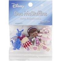Disney Dress It Up Disney Doc McStuffins Button Embellishments, 6 Piece