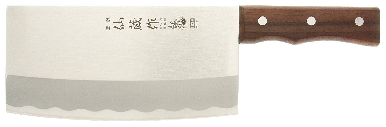 Kotobuki 440-146 Japanese Chef's Cleaver, Silver by