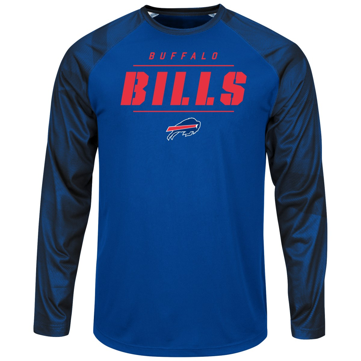 "Buffalo Bills Majestic NFL ""League Rival"" Men's Cool Base L S Shirt by Majestic"