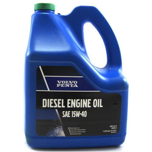 OEM Volvo Penta Marine Diesel Engine Oil SAE 15W-40 One Gallon