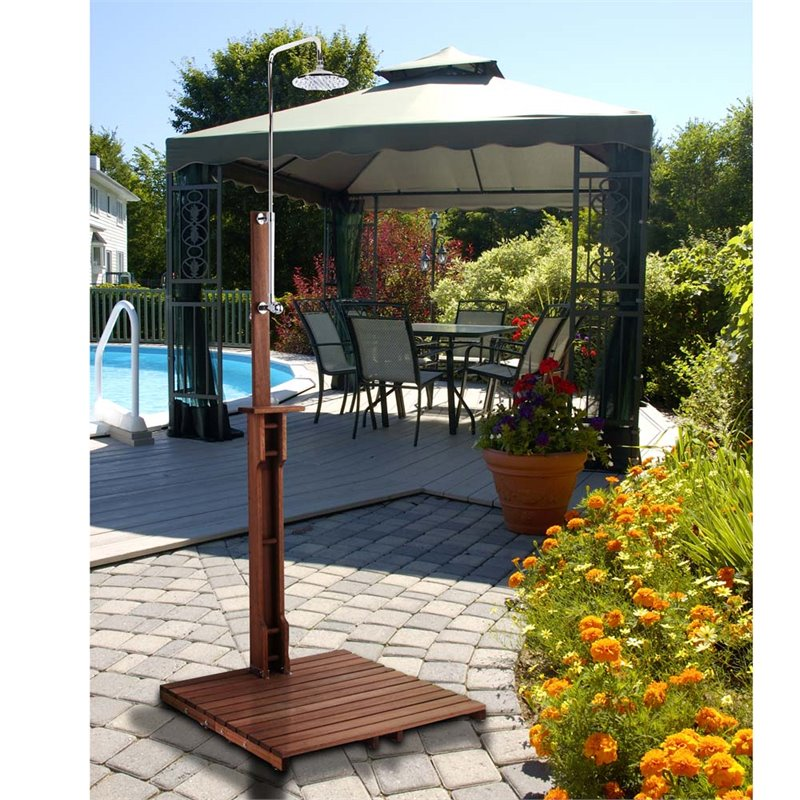 Southern Enterprises Outdoor Shower in Oiled Eucalyptus by Southern Enterprises