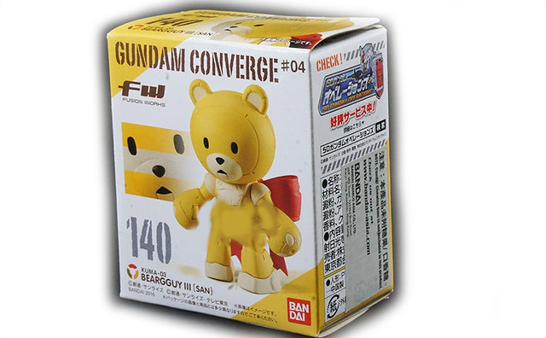 Bandai FW Fusion Works Shokugan Gundam Converge #04 Beargguy III San #140 Figure by Bandai