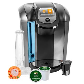 Keurig K525C Single Serve Coffee Maker, 12 K-Cup Pods and My K-Cup 2.0