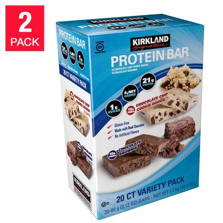 Kirkland Signature Variety Protein Bars, 40-count - Walmart com
