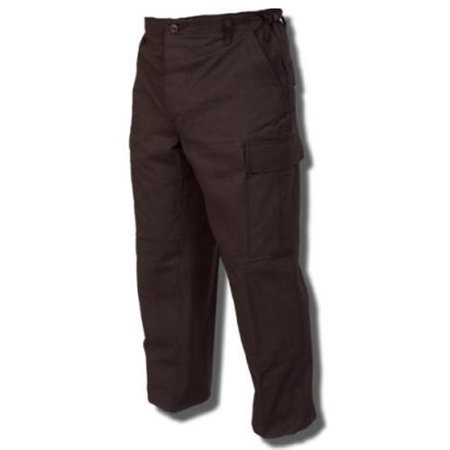 BDU Trousers Black 100% Cotton Rip-Stop, Large Short