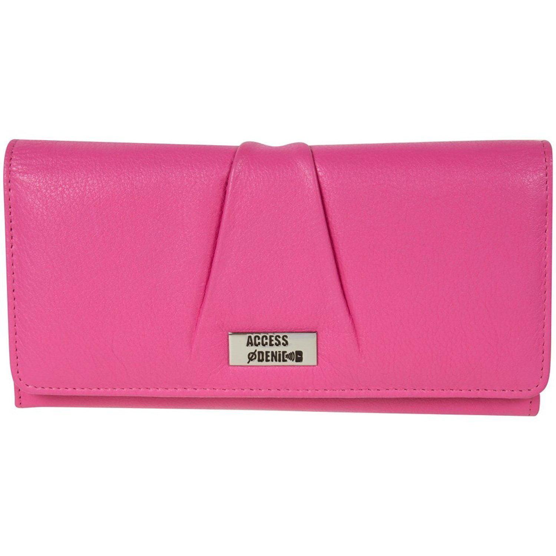 Genuine Leather Women's Wallet Accordian RFID Blocking