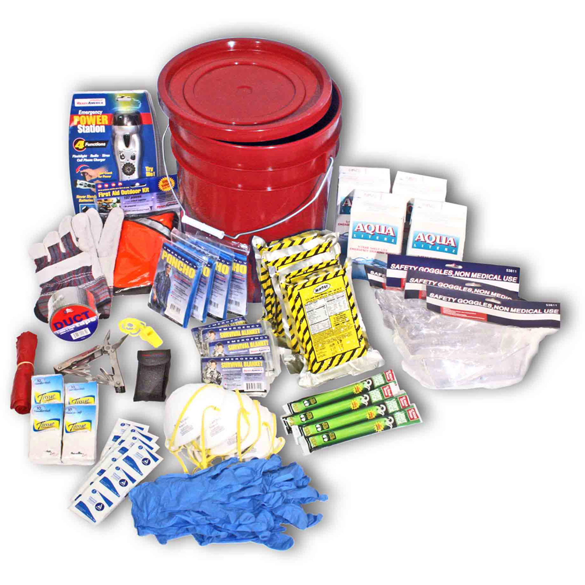 Ready America 4-Person 3-Day Deluxe Emergency Kit in a Bucket by Ready America