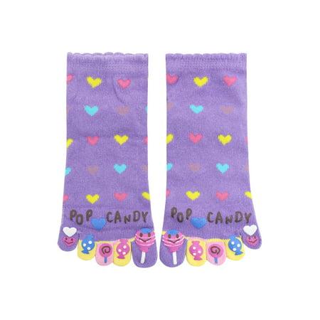 Women's Letters Hearts Candy Pattern Ankle Length Toe Socks ()