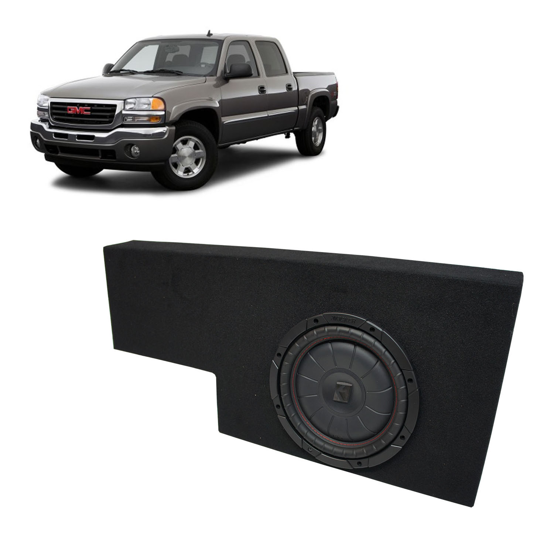 Compatible with 01-06 GMC Sierra Non-HD Crew Cab Truck Kicker CompVT CVT10 Dual 10 Sub Box Enclosure Final 2 Ohm