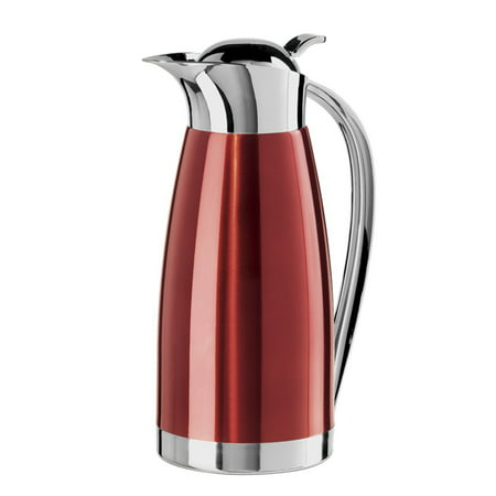 Oggi Clarisa Satin Finish Stainless Steel 54 Ounce Thermal Vacuum Carafe, (Satin Finish Thermal Carafe)