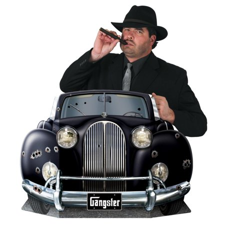 Pack of 6 Roaring 20's Themed Black Luxury Gangster Car Photo Prop Decorations 45