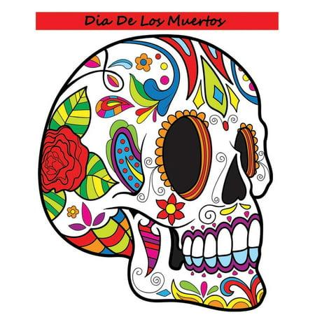 Dia de Los Muertos: Adult Coloring Book Day of the Dead (Paperback)
