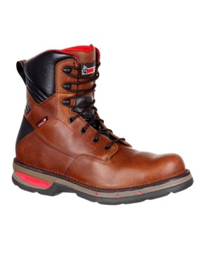 Rocky Work Boots Mens Fieldlite Composite Toe Lace Up Brown RKK0228