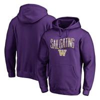 Washington Huskies Fanatics Branded Logo Hometown Collection Pullover Hoodie - Purple