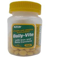 Rugby Daily vitamines et Vite minéraux comprimés avec le fer et le bêta-carotène - 100 Chaque