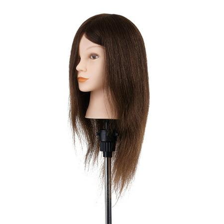 "20"" Mannequin Head Hairdressing Training Head Hair Braiding Practice Dummy Head High Temperature Fiber Head Model - image 4 of 4"
