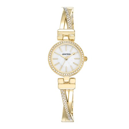 Armitron Women's Dress Bangle Round Watch, Gold