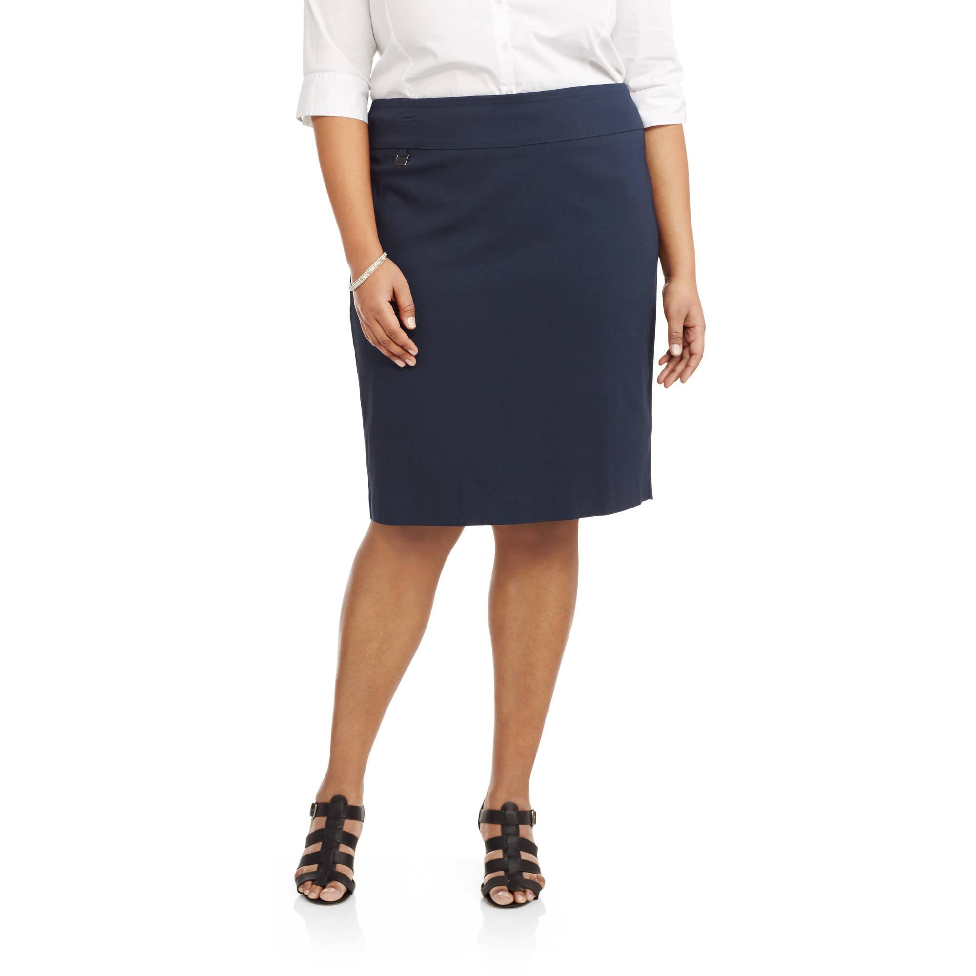 Lifestyle Attitude Womens' Plus Tab Front Pencil Skirt