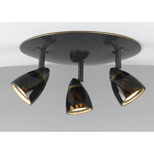 Cal Lighting SL-954-3-BRNS Art Deco / Retro 3 Light Island / Billiard Fixture wi