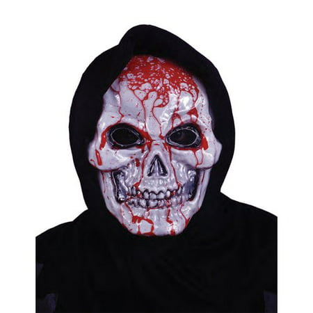 Bleeding Skull Mask - Halloween Mask White And Black