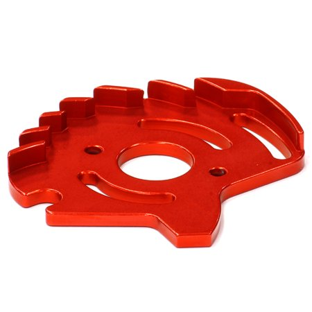 Integy RC Toy Model Hop-ups T8540RED Billet Machined Motor Plate for Traxxas 1/10 Slash 4X4 non-LCG