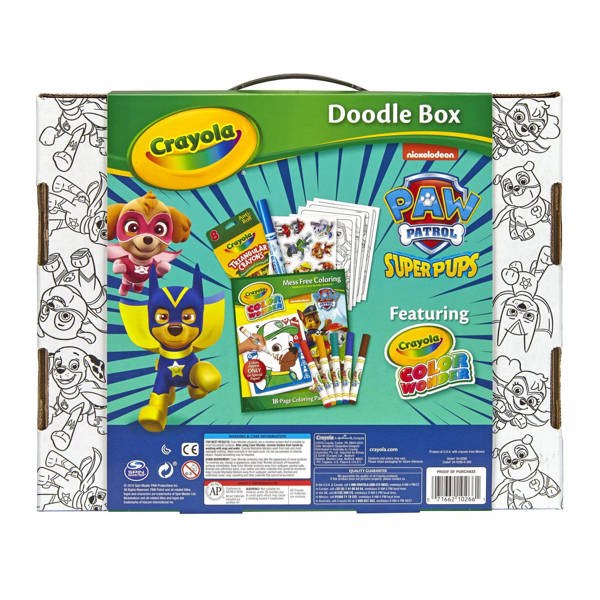 Coloring books for kids at walmart - Crayola Color Wonder Paw Patrol Superpups Doodle Box Art Kit Walmart Com