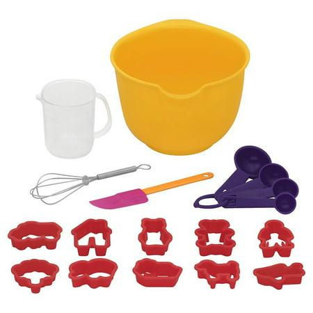 Bakers Secret 18pc Little Kids Real Baking Mini Starter Supplies Set Children, Ages 5+](Kids Real Baking Set)