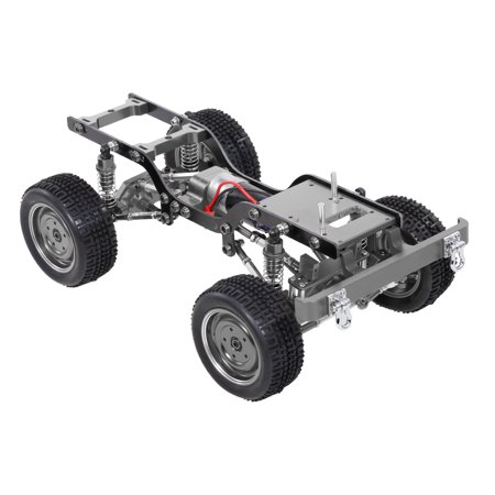 MN-D90 Replacement 190mm Full Metal Chassis Frame with Tires 370 Motor Transmitter Receiver Servo ESC for 1/12 RC Crawler Car DIY Parts - image 5 of 7