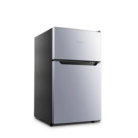 Hisense 3 2 Cu Ft Two Door Mini Fridge w/ Freezer RT32D6ASE