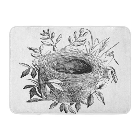 - KDAGR Nest of Sedge Warbler Bird Vintage Sourced from Antique Book The Playtime Naturalist by Dr J E Taylor Doormat Floor Rug Bath Mat 23.6x15.7 inch