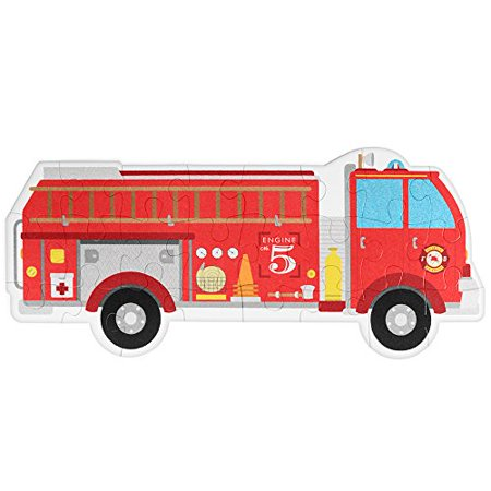 Imagination Generation Jumbo Fire Engine 24-piece Floor Puzzle | 3-foot long Fire Truck