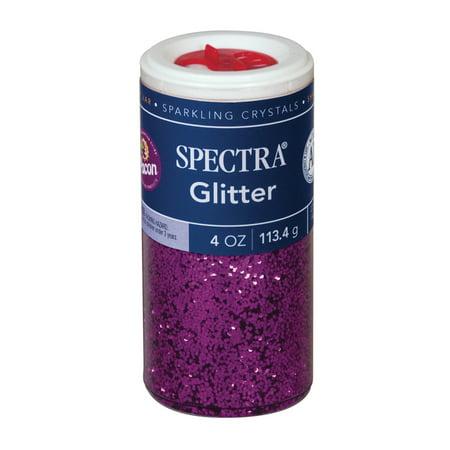 Pacon Spectra Glitter Sparkling Crystals, 4 oz., Magenta
