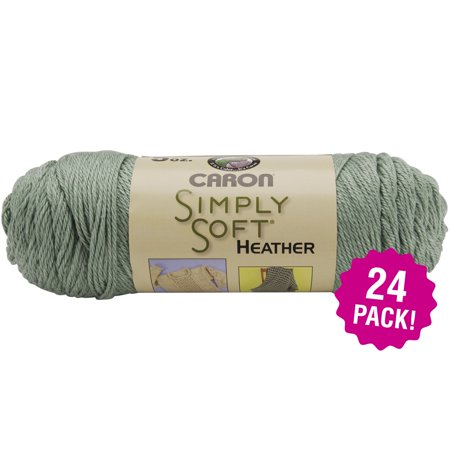 (Caron Simply Soft Heather Yarn - Woodland, Multipack of 24)