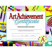 "Hayes School Specialty Style B Art Achievement Certificate, 8.5"" x 11"", Pack of 30"