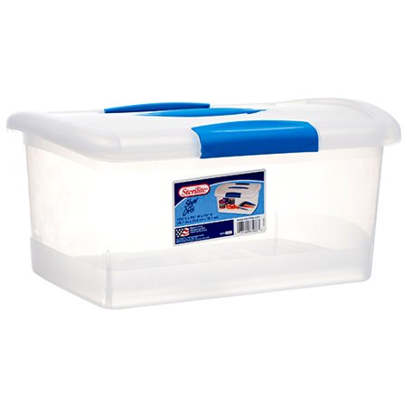 New 369899  Sterilite Storage Container W / Blue Lid (6-Pack) Laundry Accessories Cheap Wholesale Discount Bulk Household Laundry Accessories](Cheap Stores)